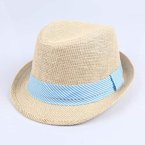 YUGUO Sombrero para El Sol Recién Llegado, Niños, Niñas, Niños, Jugadores De Bolos, Sombreros, Verano, Panamá, Sombreros De Paja, Sombreros Plegables,...