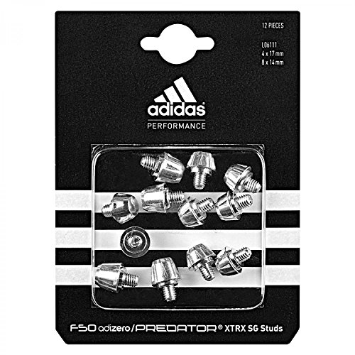 adidas Herren Dübel XTRX SG Studs 4 x 17 mm 8 x 14 mm, Silber, L06111