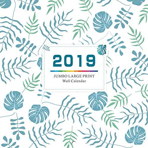 """2019 Wall Calendar - Calendar Planner 2019, 12"""" x 24"""" (Open), Thick & Sturdy Paper"""