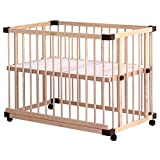 farska(ファルスカ) 柵の着脱で大人のベッドにくっつけて添い寝ができる 工具不要 高さ9段階調節 ベッドサイドベッド 03 746050