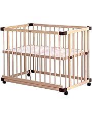 farska(ファルスカ) ベビーベッド 兼 ベビーサークル (ベッドサイドベッド03) 工具不要 添い寝 キッズベンチ (新生児~乳幼児)