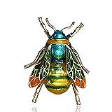 Broche de abeja de metal JXtong2 para mujer y hombre, diseño de avispa