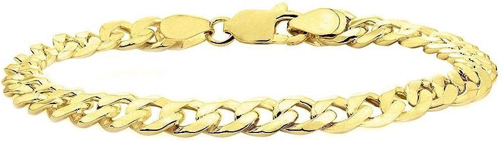 Verona Jewelers Max 75% OFF Sterling Silver 14K Fresno Mall Italian Curb Plated Cub Gold