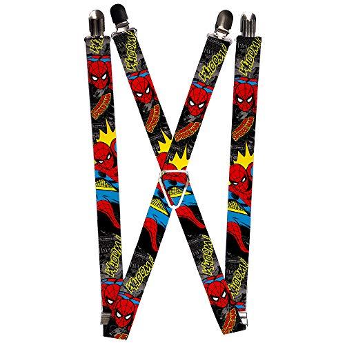 Buckle-Down mens Buckle-down - Spider-man Suspenders, Multicolor, 3.5 x 2.5 US