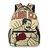 Mochila casual de moda Boxing Club Vintage Style Boxe Adult College Shoulder Travel Bag
