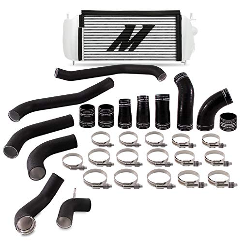 Mishimoto MMINT-F35T-17KBSL Intercooler Kit Compatible With Ford F-150 Raptor 2017+ Silver Cooler, Black Pipe