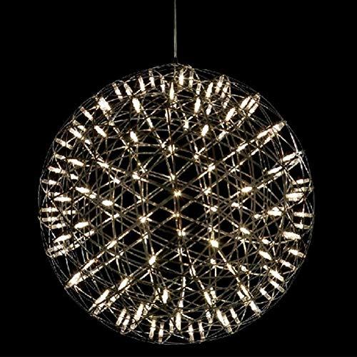 yaohuishanghang Candelabro Estilo Industrial del Accesorio de la lámpara del Restaurante del Pasillo del Cuerpo de Acero Inoxidable de la lámpara del LED, 220V Luz de araña