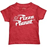 Disney Pixar Toy Story Pizza Planet Boys Toddler Juvy Humor Funny Tee T-Shirt(Heather Red,Large)