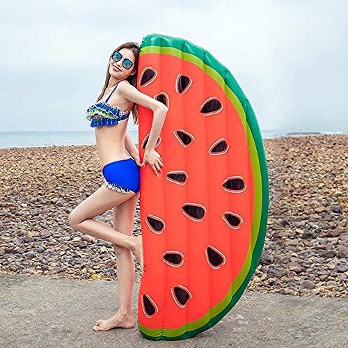 QUQU Juguetes inflables Verano Semi-Circular sandía Flotante Fila, Adulto Natación Amortiguador Anillo Cama Flotante Float reclinable Flotante Junta de Agua Juguetes, Color: Una