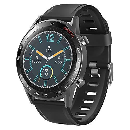 APCHY 2021 Nuevo Smartwatch Reloj Inteligente,Rastreador De Actividad Física con Oxígeno En Sangre, Presión Arterial, Monitor De Frecuencia Cardíaca, Contador De Pasos De Calorías,Negro