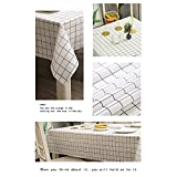 Wachstuch-Tischdecke Abwaschbar Garten-Tischdecke Wachstischdecke PVC Plastik-Tischdecken Wasserabweisend Abwischbar 140x180 cmWeiß - 7
