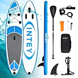 INTEY Stand Up Paddle Board Gonflable, Sup Planche 305×76×15cm en PVC Construction...