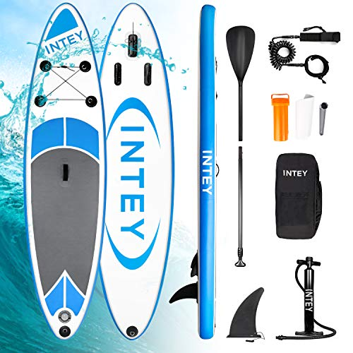 INTEY Sup Tabla Paddle Surf Hinchable 305×76×15cm, iSUP Tabla de Surf con...