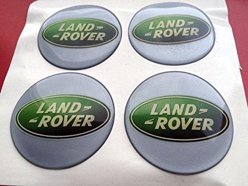 Land Rover4 Stück 60mm Aufkleber Emblem für Felgen Nabendeckel Radkappen