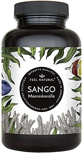 Sango Meereskoralle Kapseln - 180 Stück (2 Monate). 3300mg, davon 660mg Calcium, 330mg Magnesium (2:1 Verhältnis). Laborgeprüft, hochdosiert, in Deutschland produziert