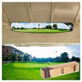 "10L0L 16.5"" Extra Wide 180 Degree Panoramic Rear View Mirror for Golf Carts EzGo Yamaha"