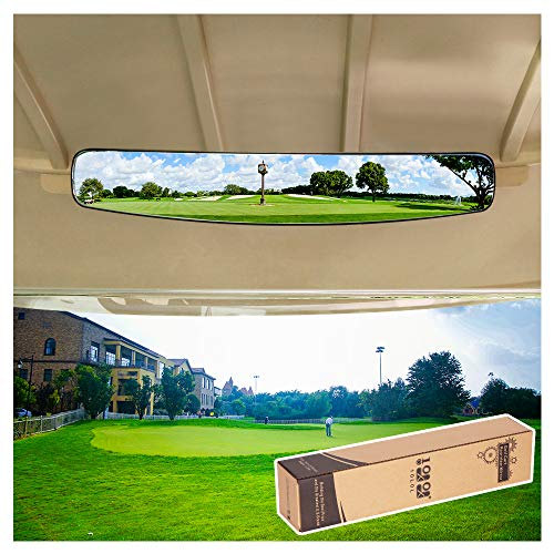 10L0L 16.5' Extra Wide 180 Degree Panoramic Rear View Mirror for Golf Carts EzGo Yamaha