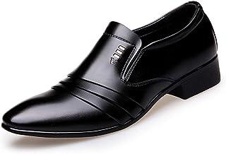 大きいサイズ ビジネスシューズ 靴 メンズ スリッポン プレーントゥ 革靴 ロングノーズ 紐なし 黒 ブラック 新郎 タキシード 成人式 28.0cm 通気性 ローファー フォーマル 結婚式 通勤