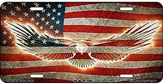 Patriotic American Flag Old Glory Aluminum Vanity License Plate USA Tag Car Auto
