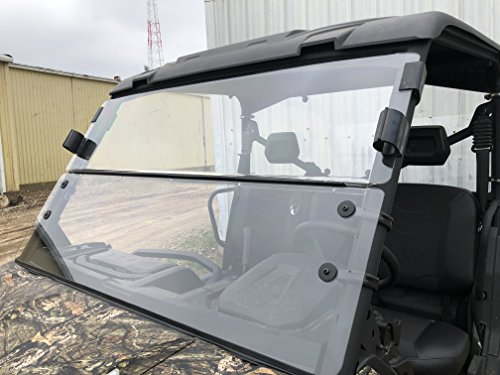 2016-2021 A&S Audio And Shield Designs Can-Am Defender HD5/ HD8/ HD10/ Defender Max 3/16 Standard Polycarbonate Fold Down Windshield