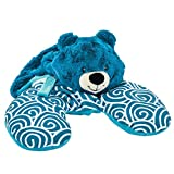 "Animal Adventure | Popovers Travel Pillow | Blue Bear | Transforms from Character to Travel Pillow | 13"" x 8.5"" x 6"