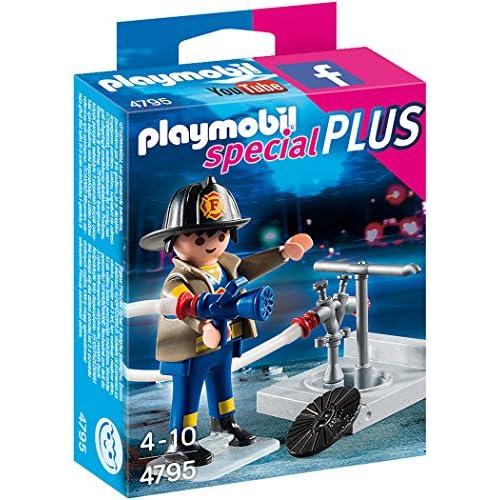 Playmobil 4795 - Pompiere con Tubo Flessibile