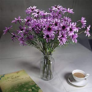 Artificial and Dried Flower Chrysanthemum Artificial Small Daisy Cosmos Artificial Fower Bud Flower Small Wild Chrysanthemum Fake Flower – ( Color: Purple )