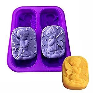 OFKPO Moldes de Jabón de Silicona, para Tarta Chocolate Moldes de Silicona