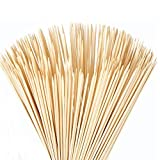 FLYPARTY 200Pcs Bamboo Skewers - 4mm Thick 16 Inch Premium Natural BBQ Bamboo S'Mores Skewers Marshmallow Roasting Sticks,Perfect for Hot Dog Kebab Sausage Camping Party Craft Projects (16 inch)
