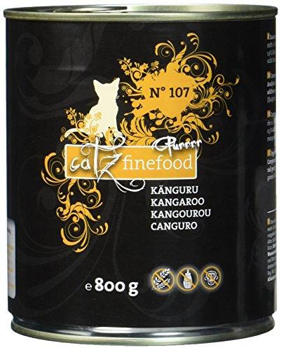 catz finefood Purrrr Känguru Monoprotein Katzenfutter nass N° 107, für ernährungssensible Katzen, 70{9beda18914f3ef05562469b0ed7ab18e7d59519b1763c325a1eb9a09f5eac37c} Fleischanteil, 6 x 800g Dose
