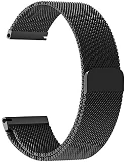 GetTechGo Magnetic Milanese 20mm Strap Compatible with Samsung Galaxy Watch 3 41mm,Galaxy 42mm,Active,Active 2/AmazeFit BI...