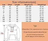 Haosheng Uomo Donna Unisex Felpe con Cappuccio 3D Stampato Natale Cool Hoodie 3D Stampato Moda Pullover Sweatshirt
