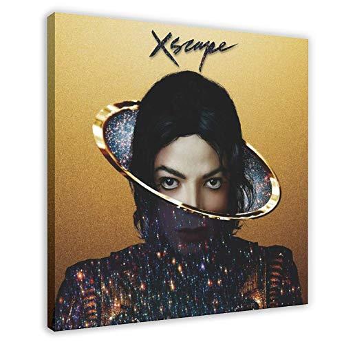 Michael Jackson XSCAPE - Poster in tela per camera da letto, sport, paesaggio, ufficio, decorazione per la stanza, idea regalo, 70 x 70 cm, cornice