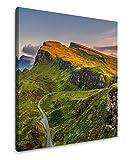 EAUZONE GmbH Schottland Berge 60x60cm Wandbild auf
