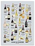 Wein Folly Wein und Käse Pairing Poster Print (45,7x