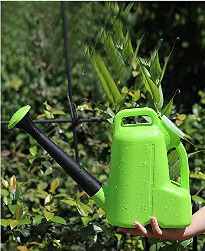 Nealan Regadera de plástico para jardín, regadera, pequeña maceta con boca larga, uso en interiores y exteriores, flores, plantas de interior (3L, verde)