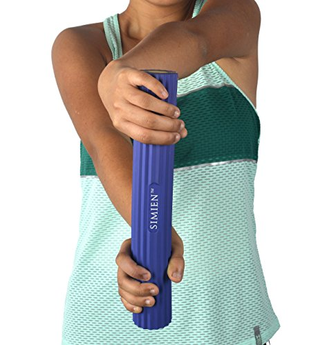 SIMIEN Flexible Rubber Twist Bar - 3 Resistance Bar Levels In 1 - Tennis Elbow, Golfer's Elbow, Tendonitis, Works With Brace & Sleeves - Flex & Twist Elbow, Wrist, Forearm Pain Relief - 2 BONUS eBooks