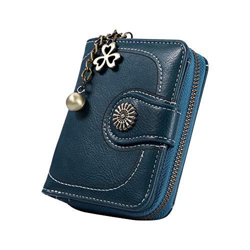 Censhaorme Vintage Leather Cera de petróleo Corta de Las Mujeres Carteras Pequeños Lindo Monedero Tarjeta Monedero del Bolso Femenino Holder