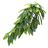 Reptile Plants Hanging Silk Terrarium Plant with Suction Cup for Bearded Dragons,Lizards,Geckos,Snake Pets and Hermit Crab Tank Habitat Decorations,Small Size,12 inches Green