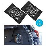 Wady - Rete portaoggetti per auto, 2 pezzi, idea le per bagagliaio, con adesivi, elastica,...