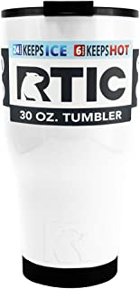 RTIC 30 oz Stainless Steel Tumbler Cup w/ Splash Proof Lid (White)