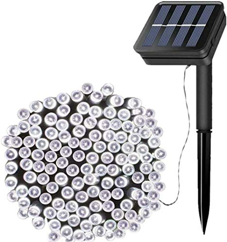 Solar String Lights, 72ft 200 LED Outdoor String Solar Powered Fairy Lights Waterproof 8 Modes Garden Decorative Lights for Tree, Patio, Garden, Yard-White