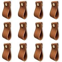 12-Pack Hiili & Kaala Leather Dresser Knobs (Brown)