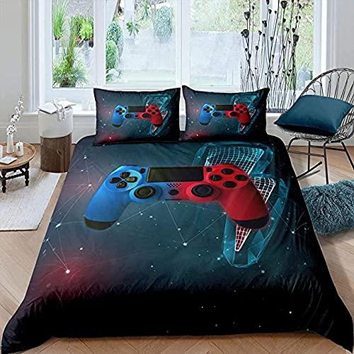 HSBZLH Sängkläder dubbelsäng 3 st spelare sängkläder set, barn pojkar tv-spel täcke, spelkontroll påslakan för tonåringar ungdomar, nyhet spel sängöverkast dekor