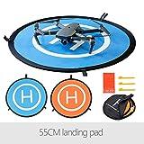 Flycoo 55cm Landing Pad Drone Hélicoptère Parking Tablier Piste Décollage Atterrissage Hélisurface Pad Facile à Plier pour DJI Mavic 2 Pro / Mavic 2 Zoom / Mavic Air / Mavic Pro / Platinum / Spark