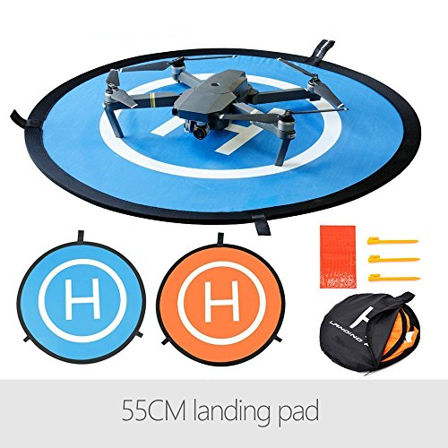 Flycoo 55CM Faltbare Landing Pad für DJI Mavic Air / Spark / Mavic Pro - Drone landeplatz Helipad Helikopter Landeplatz Landeplattform Dronepad Landebahn Apron