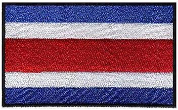 Hierro en Costa Rica Bandera Bordado Parches Logotipos 3 & quot; Ancho/Parches Parche/Marca/Etiqueta en la Ropa
