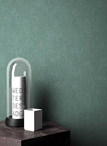 NEWROOM Tapete Grün Unifarbe Struktur Uni Vliestapete Vlies moderne Design Optik Einfarbig Unifarben inkl. Tapezier Ratgeber