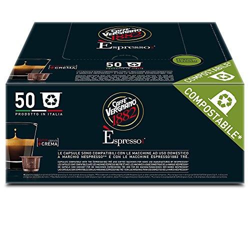 Caffè Vergnano 1882 Èspresso1882 Lungo Intenso - 50 Capsule - Compatibili Nespresso