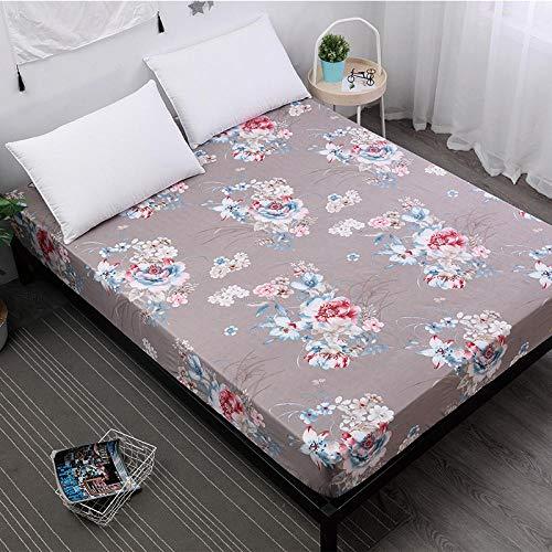 GTWOZNB Protector de colchón/Cubre colchón Acolchado, Ajustable y antiácaros. Impresión de sábanas a Prueba de Agua y a Prueba de Polvo-3_91X190cm